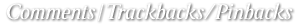 コメント | トラックバック/ピンバック